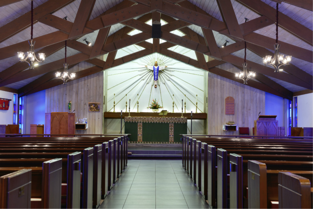 sanctuary at Redeemer Episcopal Church in Irving, Texas