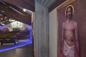 oil painting of Christ at Redeemer Episcopal Church in Irving, Texas